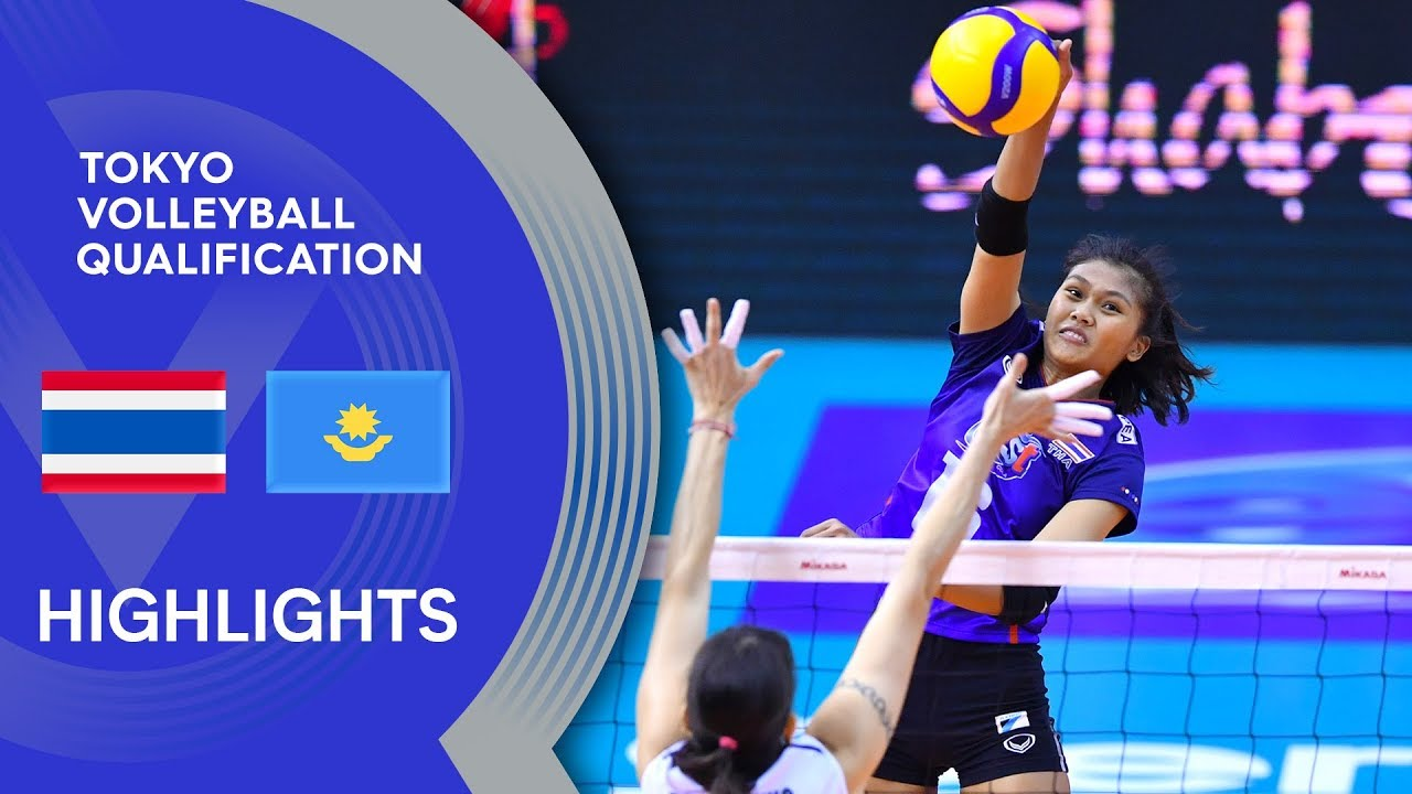 Thailand vs. Kazakhstan - Highlights | AVC Women's Tokyo Volleyball Qualification 2020
