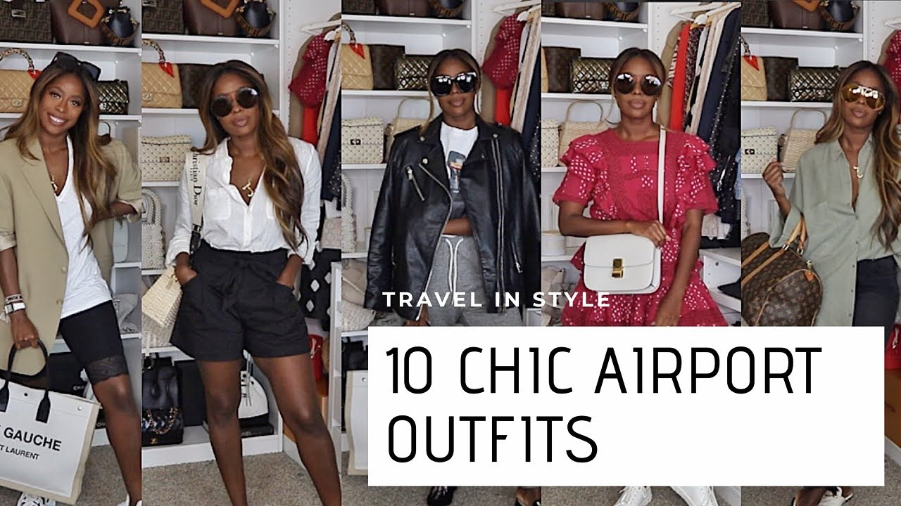 10 CHIC AIRPORT OUTFITS 2019 | STYLISH TRAVEL LOOKS | HIGHLOWLUXXE