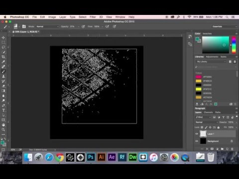 Adding Brushes, Gradients, Textures in Photoshop CC, Cs6 - YouTube