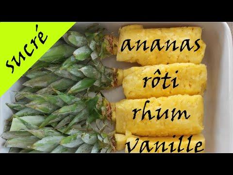 ***-recette-d'ananas-rôti-rhum-vanille-***-recette-facile-et-rapide