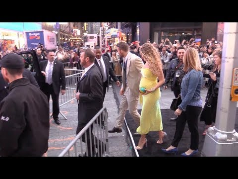 Pregnant Blake ly and Ryan Reynolds at Pikachu Premiere in New York City