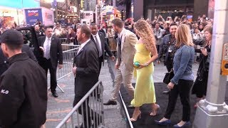 Pregnant Blake Lively and Ryan Reynolds at Pikachu Premiere in New York City