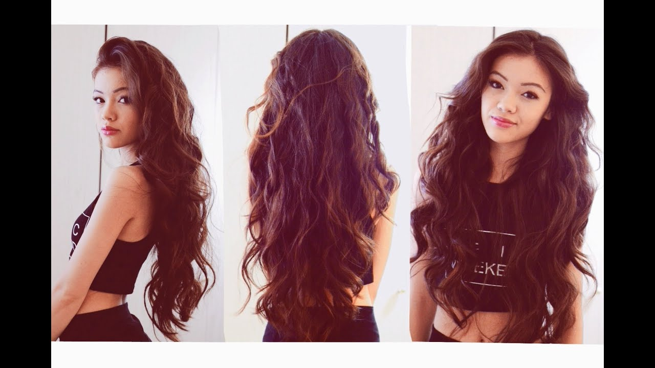 My Everyday Hair Heatless Wavy Hair Youtube