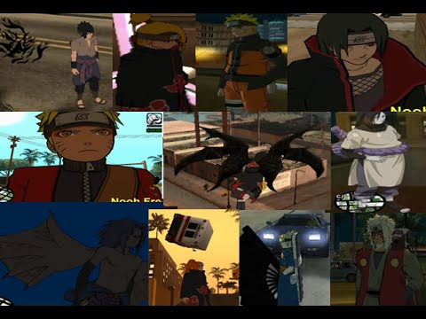 Mod naruto para gta san andreas android skins youtube.