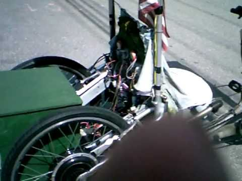 Fred Thorne's Solar Trike in Machias, Maine
