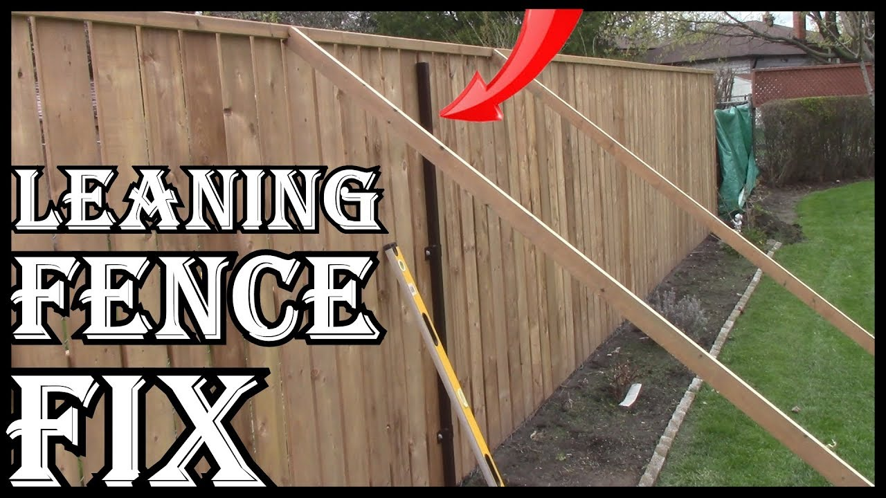 HOW TO FIX A LEANING WOODEN FENCE YOURSELF