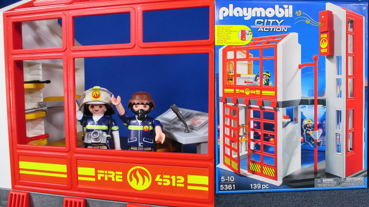 Fire Station With Alarm 5361 Playmobil Playmobil City Action Segment