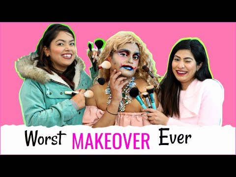 Worst MAKEUP Ever - Most WEIRD Makeover Challenge.. | #Fun #Comedy #Anaysa