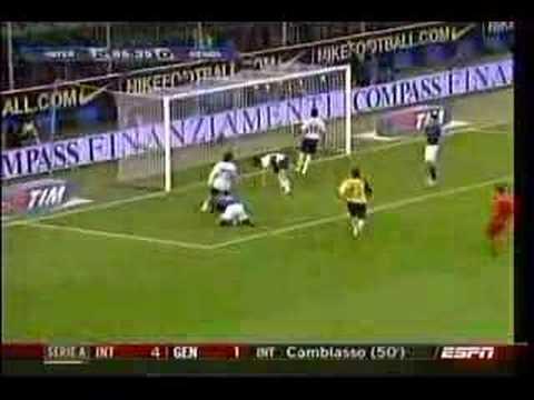1er Gol Oficial de David Suazo: Inter 4 Genoa 1