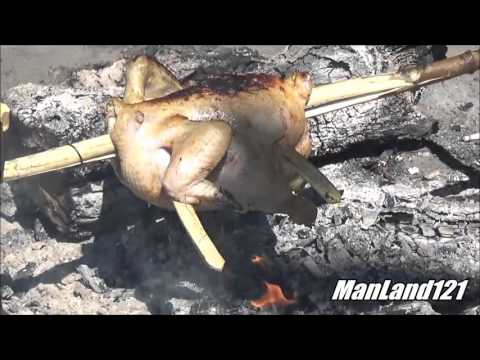 Camp Cooking The Quarter Turn Spit Roast With Chicken