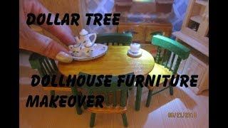 Dollar Tree dollhouse furniture makeover