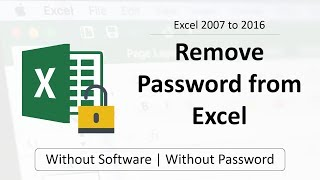Remove Password From Excel Without Password Software 100 Free Youtube