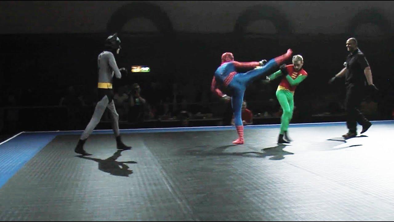 Download Batman and Robin vs Spider-Man - Full MMA Fight