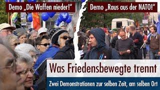 Zwei Demos am selben Ort zur selben Zeit - Was Friedensbewegte trennt