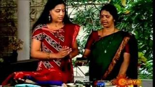 Mrs.Sudha Raghu doing Saree printing in Karaviruthu ,www.sanskrithidesigns.com, Surya tv.