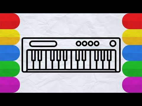 How To Draw A Musical Keyboard : Drawing And Painting Book For Kids