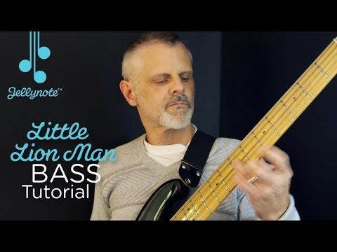 Little Lion Man by Mumford & Sons - beginner bass tutorial (Jellynote Lesson)