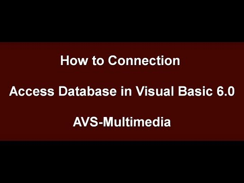 How to Connection Database in Visual Basic 6 0  Add new record, Save, Delete, Exit