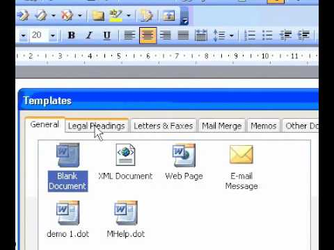 Microsoft Office Word 2003 Create a legal pleading - YouTube