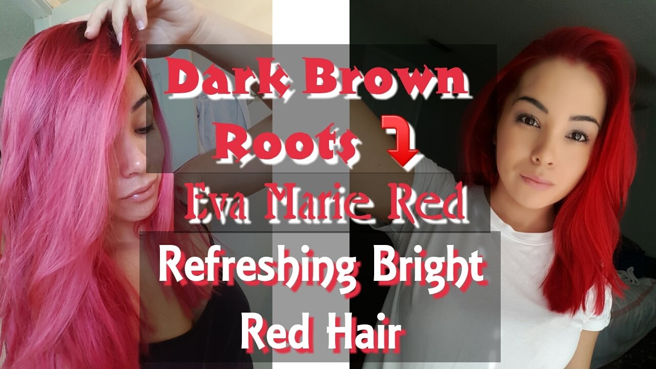 How To Dye Dark Hair Bright Red Refresh Bright Red Hair Youtube