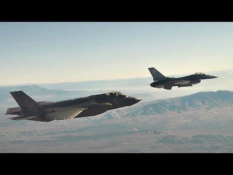 Cutting Edge vs Trusted Tech: F-35 & F-16 Fly Side-by-side, Break-off