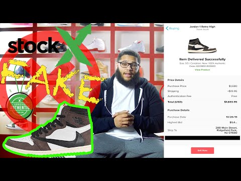 STOCKX SOLD ME FAKE TRAVIS SCOTT 1S AND