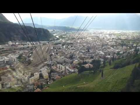 On the Ritten cablecar between Bozen and Oberbozen