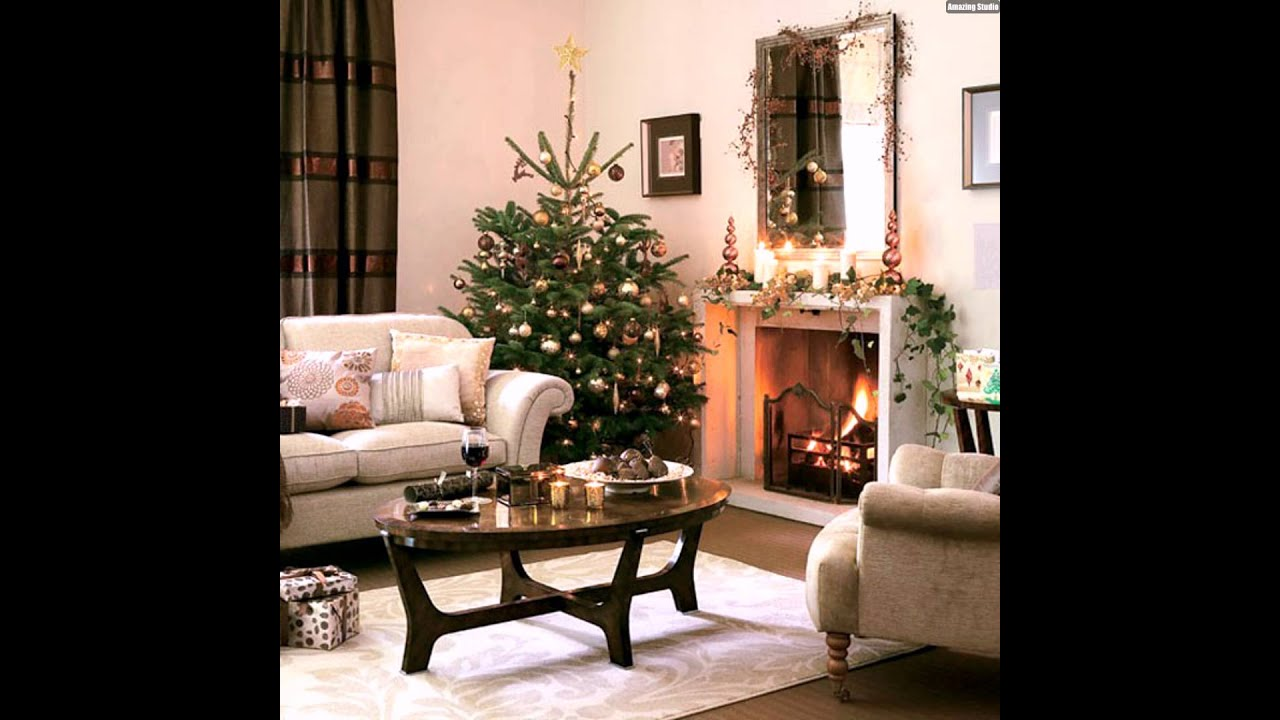 wohnzimmer weihnachtlich dekorieren gold mittelpunkt youtube. Black Bedroom Furniture Sets. Home Design Ideas