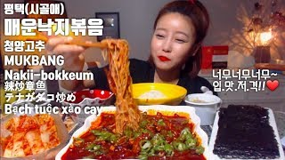 매운낙지볶음 청양고추 먹방mukbang eating show Korean spicy food Nakji-bokkeum 辣炒章鱼 テナガダコ炒め Bạch tuộc xào cay