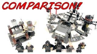 LEGO Star Wars Darth Vader Transformation Comparison! 2005 VS. 2017! 7251 VS. 75183!