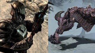 Skyrim - The Ebony Warrior VS. Legendary Dragon
