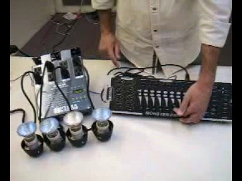 Dmx Controller And Dmx Dimmer Pack Youtube