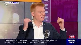 Adrien Quatennens face à Jean-Jacques Bourdin en direct