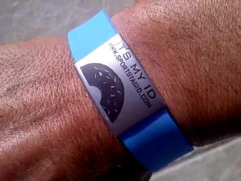 Medical Id Bracelet Sportstagid Alert Marine Sport Ocean