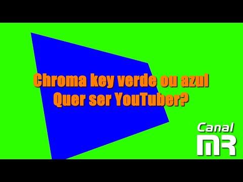 Chroma key verde ou azul - Quer ser YouTuber?