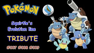 Pokemon Squirtle Wartortle and Blastoise Tribute