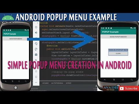 How To Create Popup Box In Android || Create Popup Window In Android Example || Avadh Tutor
