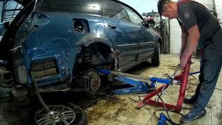 Субару Оутбэк ремонт крыла и бампера в Нижнем Новгороде Subaru Outback Auto body repair.