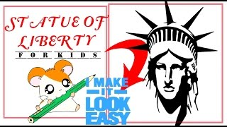 How to draw STATUE OF LIBERTY