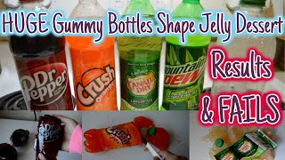 FUNNY FAILS - HUGE Bottle Shape Jelly | Dr Pepper, Mountain Dew, Crush, Canada Dry, and a Fading
