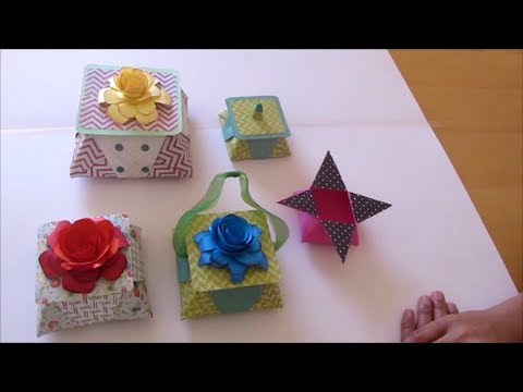 Five-pointed origami star box | Verpackung, Basteln | 360x480