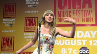 CMA Fest Press Conference: Taylor Swift