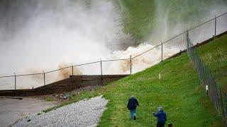 Midland flooding aerial footage
