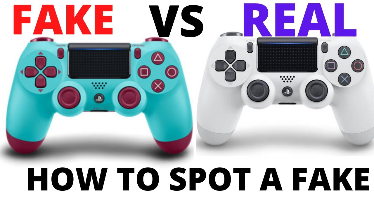HOW TO SPOT A FAKE PLAYSTATION PS4 CONTROLLER definitive!!!!