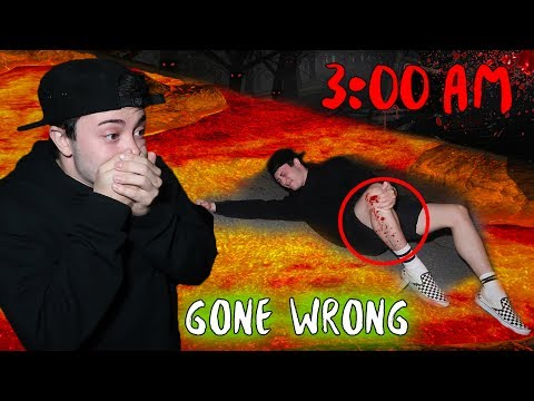 DO NOT PLAY FLOOR IS LAVA AT 3:00 AM CHALLENGE | *GONE WRONG*