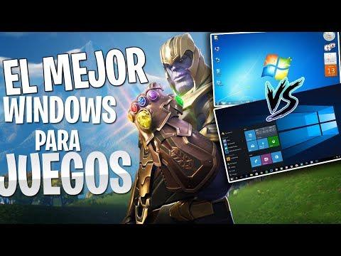 El Mejor Sistema Operativo para los JUEGOS / Windows 10 VS Windows 7 / El mejor RENDIMIENTO