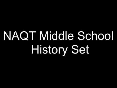 NAQT Middle School History Set