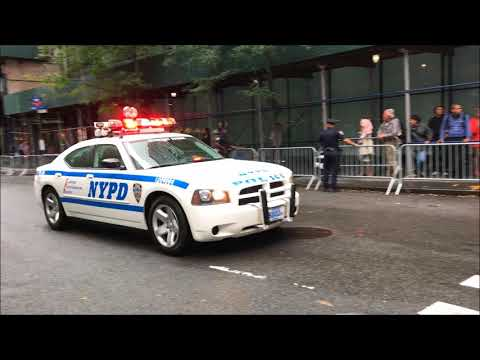 U.S. PRESIDENT DONALD TRUMP & MOTORCADE MAKING IT'S WAY THROUGH MIDTOWN DURING UN GENERAL ASSEMBLY.