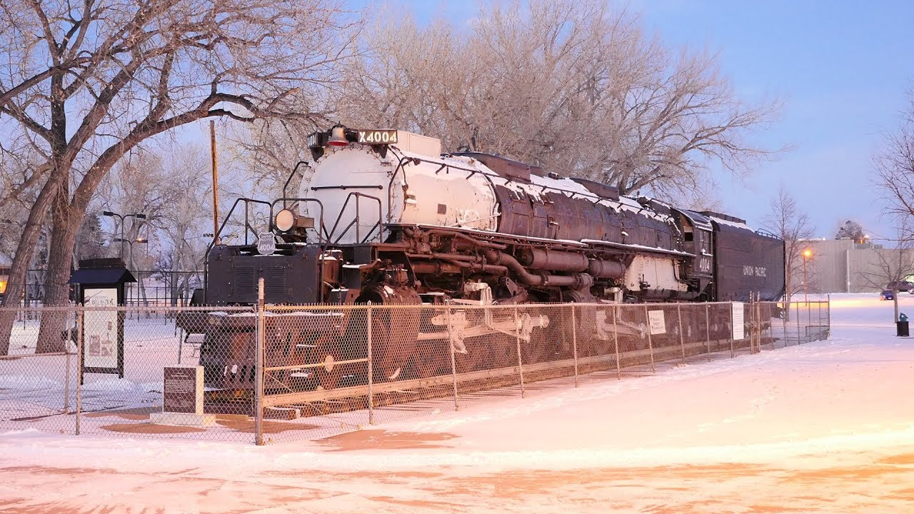 Biggest Steam Locomotive In The Snow!