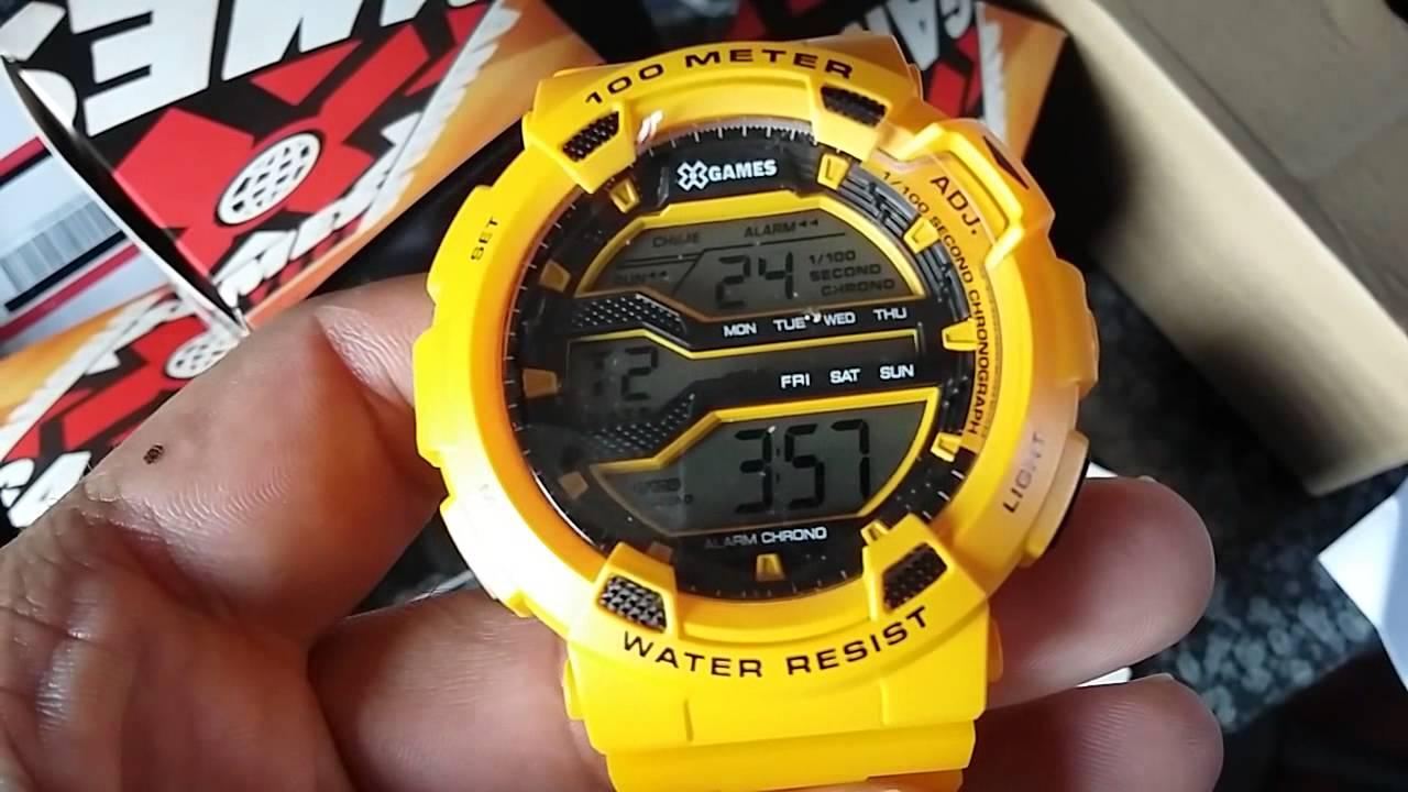 41216f89f125b Relógio X-Games XMPPD291 BXYX Amarelo Digital - www.gigastorenet.com.br -  YouTube